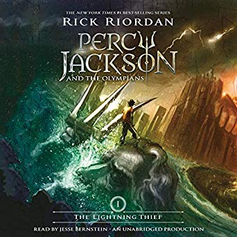 Book cover: Percy Jackson and the Olympians - recommended reading for teenagers when camping.
