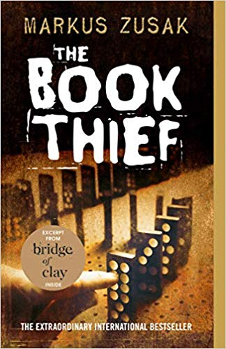 Image of the cover of The Book Thief, a book recommended for teens on camping trips.