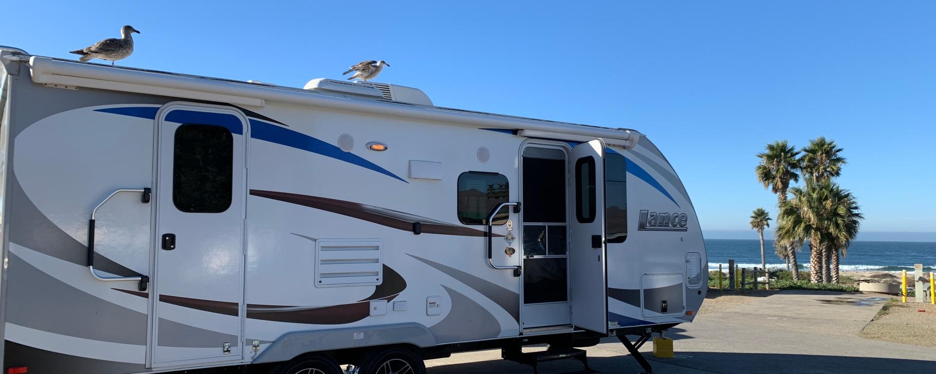 Image of a travel trailer prior to pre-launch checklist